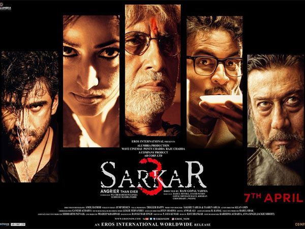 See Here! Ram Gopal Varma's Sarkar 3 Poster Is Out Starring Amitabh Bachchan & Jackie Shroff