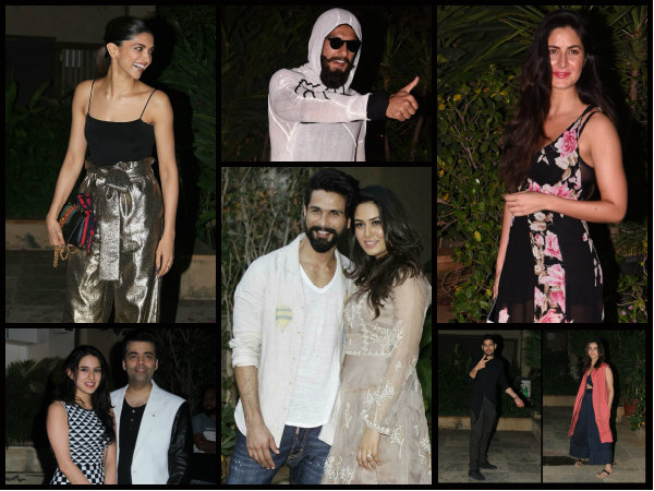 PICTURES! Deepika, Katrina, Ranveer, Sidharth, Alia, Sara & Others At Shahid Kapoor's Birthday Bash!
