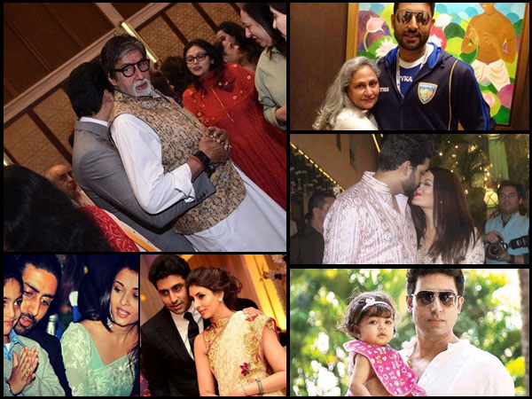 Abhishek Bachchan Hugs Big B; See His 10 HEART-TOUCHING Pics With Aishwarya, Aaradhya, Jaya & Shweta