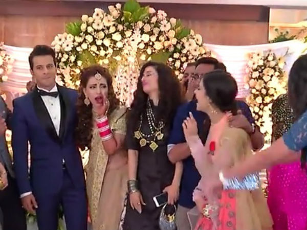 Ishqbaaz Team At Navina-Jeet Wedding
