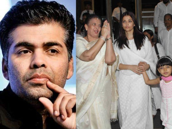 UGLY FIGHT! Aishwarya Rai Bachchan Gave Karan Johar A COLD SHOULDER; He Missed Her Father's Funeral!