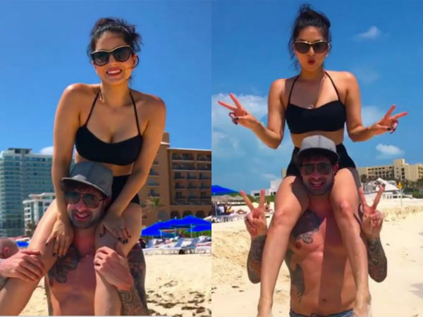 HOT! Sunny Leone & Daniel Weber Holiday In Cancun Beach, Mexico!