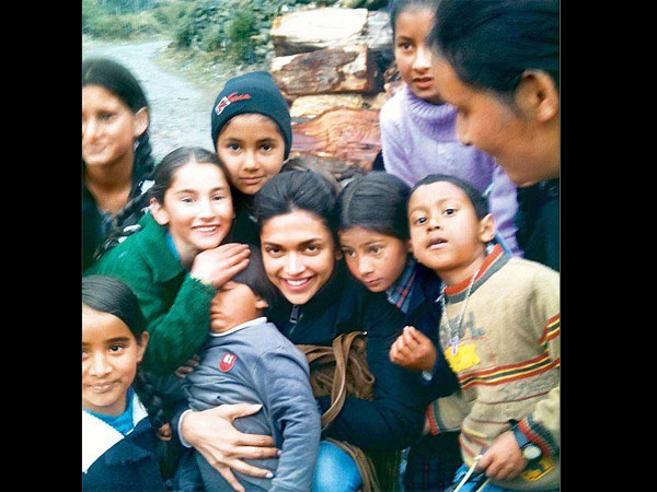Deepika's Love For The Babies