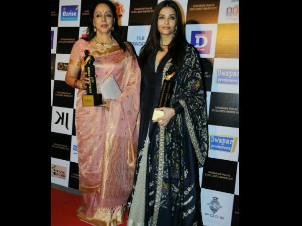 Aishwarya With Hema Malini