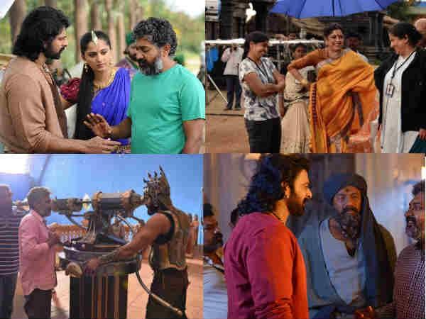 Baahubali 2: These Working Stills Of Prabhas & Rana Daggubati Are Just Not To Be Missed!