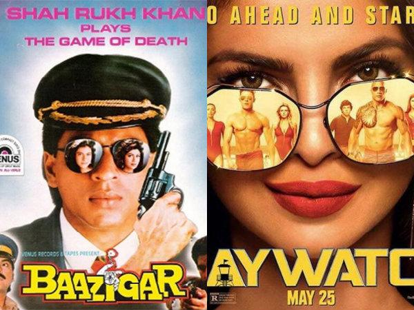 Priyanka Chopra's Baywatch Poster Copied From Shahrukh Khan's Baazigar?
