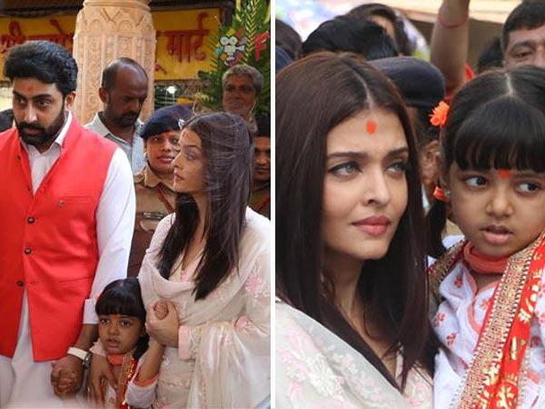 SPOTTED! Aishwarya Rai, Abhishek Bachchan Visit Siddhivinayak With Aaradhya On Their Anniversary