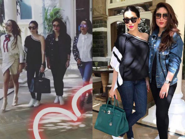Kareena Kapoor, Malaika Arora, Karisma Kapoor & Amrita Arora Have A Girls Day Out! View Pictures