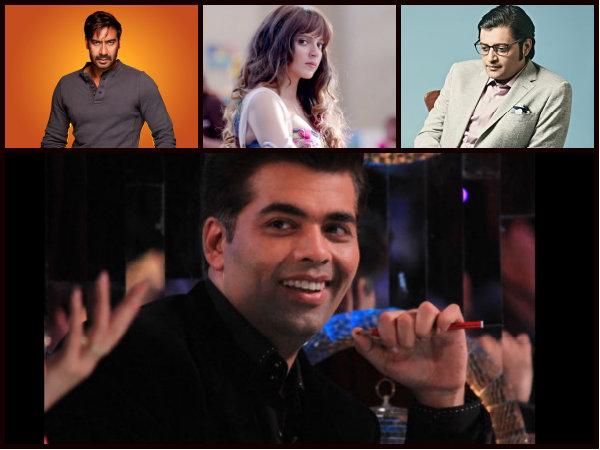 Three Fights In A Row! Karan Johar Takes A Potshot At Ajay Devgn, Kangana Ranaut & Arnab Goswami!