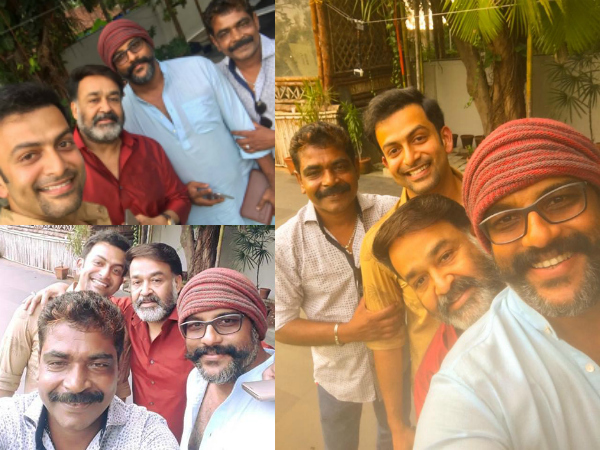 Image result for mohanlal-prithviraj-movie-lucifer-officially-started.