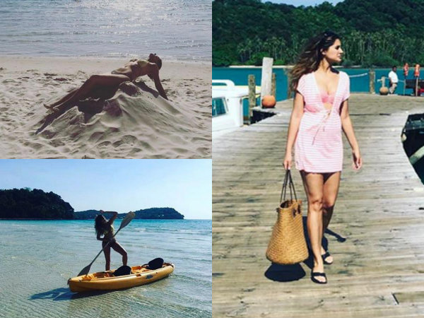 Nargis Fakhri Hits The Beach All Over Again In A Bikini! View Pics!