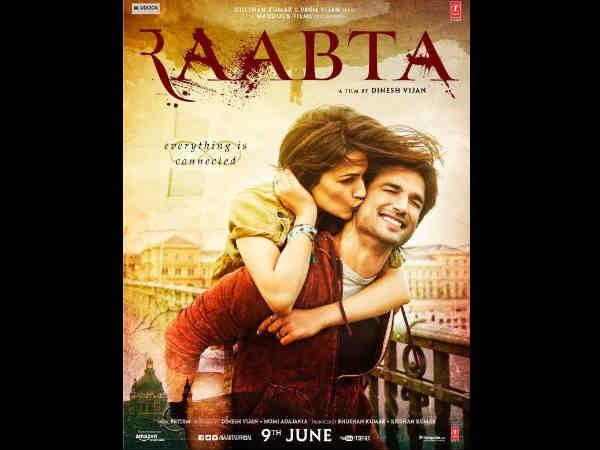 Raabta POSTER: Sushant Singh Rajput & Kriti Sanon Look Every Bit Like A Much In LOVE Couple!