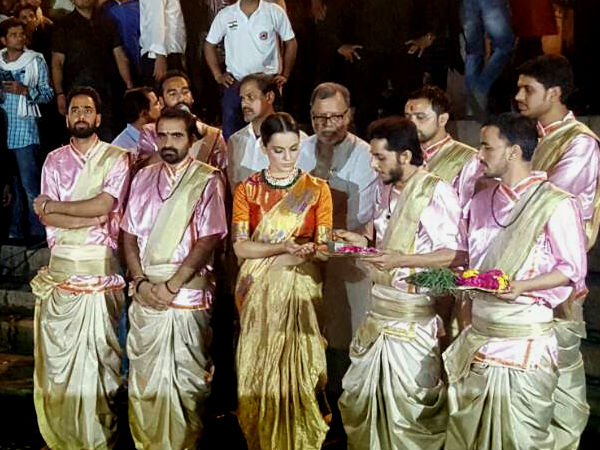 Kangana Begins The Shoot Of Manikarnika On A Religious Note