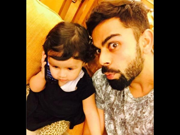 Virat With Dhoni's Daughter