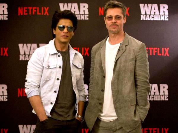SRK wishes luck to Pitt, David Michôd for 'War Machine'