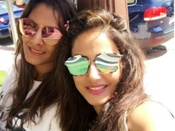 Hina Khan & Geeta Phogat Enjoy Gymming