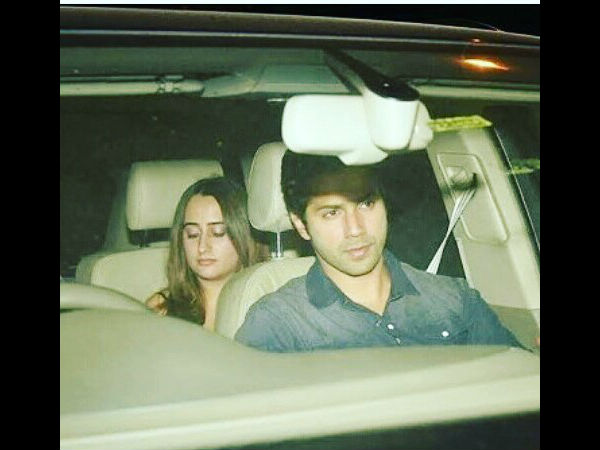 Varun Arrived With GF Natasha