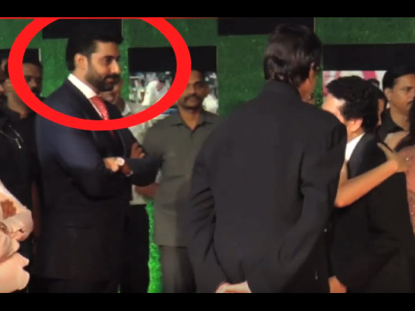 But Abhishek Looked Really Shocked & Upset With It