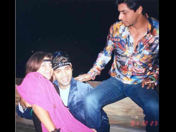 Old picture of Shah Rukh Khan, Karan Johar and Farah Khan
