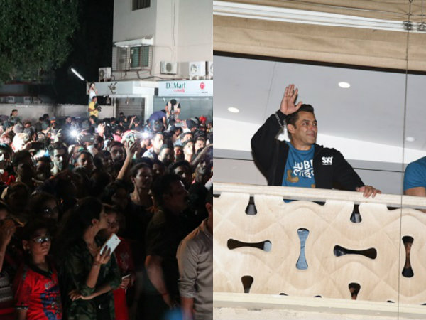 Pics! Fans Go Berserk Outside Salman Khan's Home After Tubelight Trailer Release