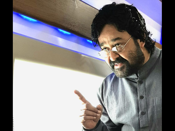 JUST OUT! Mohanlal's Look In Lal Jose's Velipadinte Pusthakam