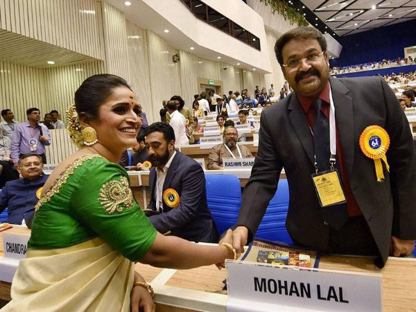 AMAZING! Mohanlal Receives A Standing Ovation At The 64th National Film Award Ceremony!