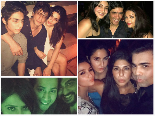 KHANSOME! Shahrukh Khan Chills With Aryan Khan & Sara Ali Khan [Inside Pics From Karan's B'day Bash]