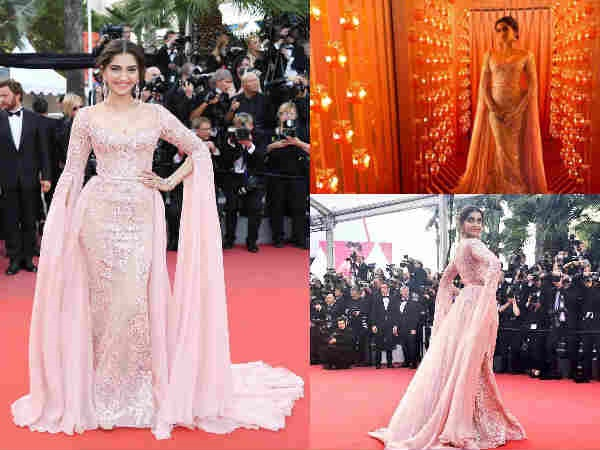 Cannes Day 5: Sonam Kapoor Is A Rosy Charm On The Red Carpet & We Just Can't KEEP CALM!