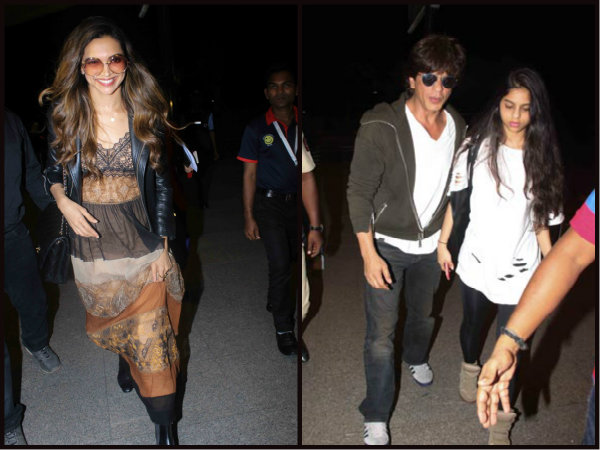 SPOTTED! Shahrukh Khan Drops Off Suhana Khan, While Deepika Padukone Leaves For Cannes [PICTURES]