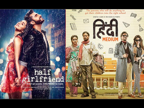 Half Girlfriend Vs Hindi Medium First Day (Opening) Box Office Collection