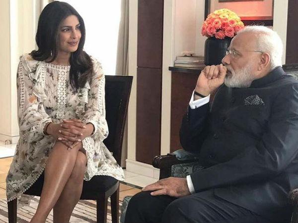 Lovely Coincidence! Priyanka Chopra Bumps Into Narendra Modi In Berlin [Pictures]