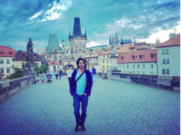 Sunil Enjoying In Prague