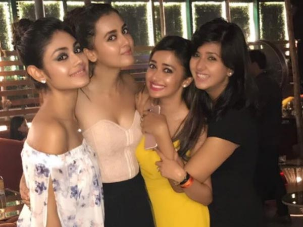 Tejaswi With Her Girl Gang