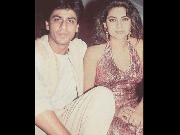 Shahrukh khan meets juhi chawla her family in austria filmibeat coffee time thecheapjerseys Image collections
