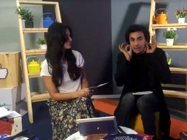 Ranbir Cuts Off Katrina In The Middle Of Her Interview