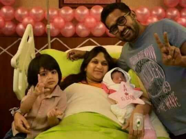 JUST OUT: First Picture Of Asif Ali-Zama Mazreen's Baby Girl