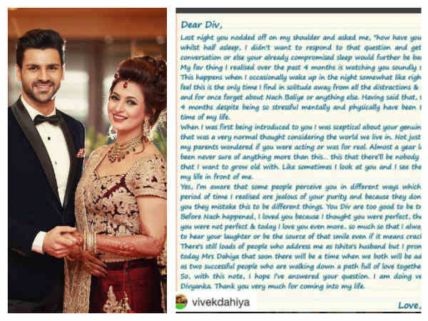 Divyanka Tripathi Shares Bidaai Video; Vivek Dahiya Expresses His Love For Wife Through Love Letter!