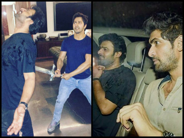 OH MY EYES! Prabhas Goes CRAZY With Varun Dhawan, Parties With Ranbir, Alia & Others [PICTURES]