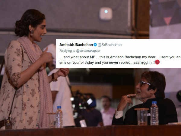 Amitabh Bachchan Turns Into Angry Man After Sonam Kapoor Forgets To Reply Back On His B'Day Wishes!