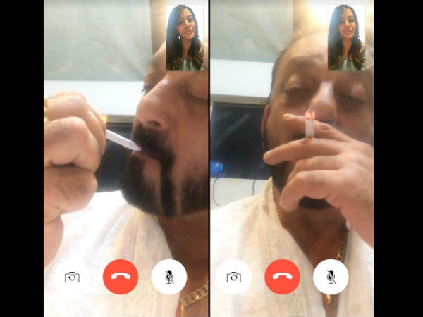 this-picture-of-sanjay-dutt-smoking-in-front-of-daughter-trishala-dutt-goes-viral