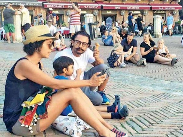 Aamir Khan Holidays In Rome, Italy With His Wife Kiran Rao & Son Azad!