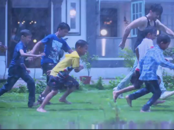 Avni Watches Neel Play With Kids In Rain
