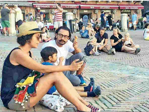 See Pictures: Aamir Khan enjoying family vacation in Italy