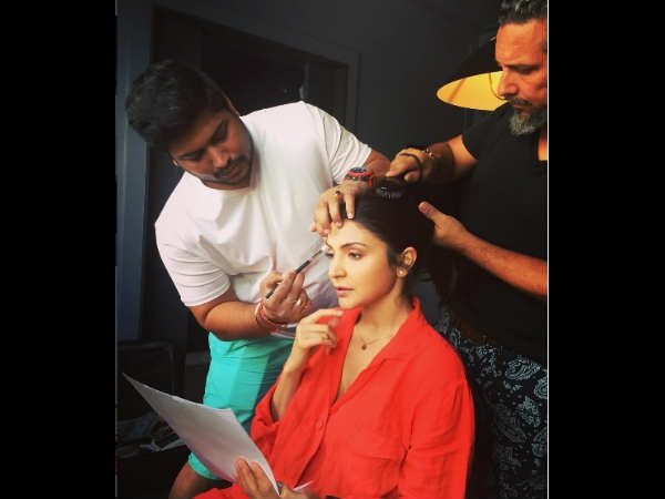 MAKEUP DIARIES! Anushka Sharma Shares A Glimpse Of How She Is Prepping Up For Sanjay Dutt Biopic