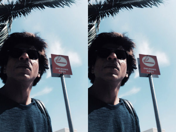 Shahrukh Khan Goes To A Smoking Area In Los Angeles & Does The Unexpected!