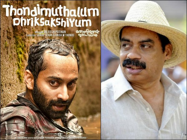 Thondimuthalum Driksakshiyum: Sathyan Anthikkad Showers Praises On The Movie!