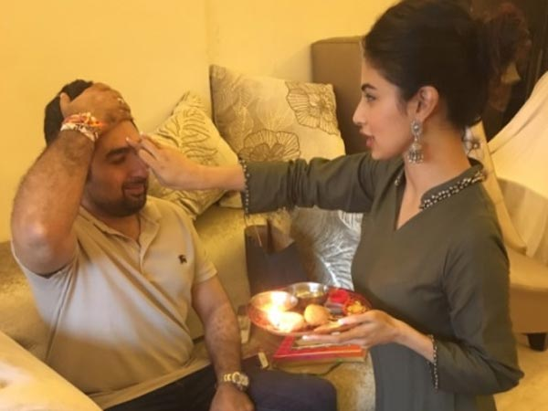 Mouni Celebrates Raksha Bandan