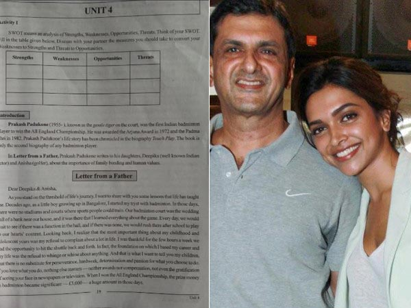 Wow! Letter To Deepika By Her Father Is Now A Lesson