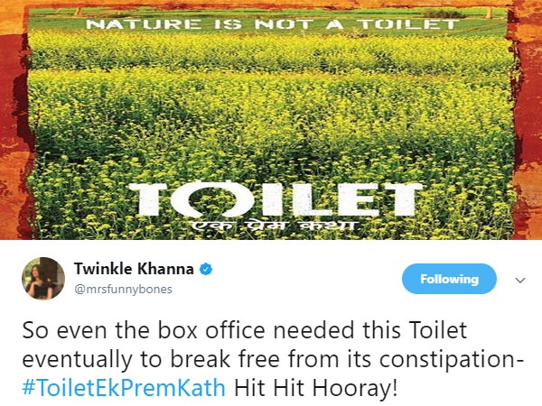 Toilet Ek Prem Katha Tuesday (5 Days) Box Office Collection