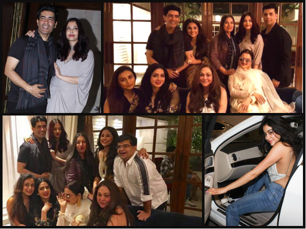 OMG! Aishwarya Rai Bachchan & Rani Mukerji Caught In One Frame AFTER AGES At Sridevi's Party [PICS]
